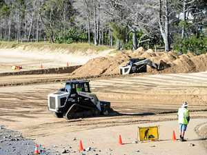 Sand pushing continues on Hervey Bay beaches