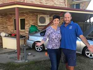 MAN TELLS: Call of nature saved me as car crashed into house