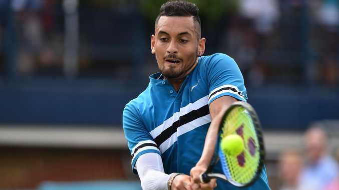 Australia's Nick Kyrgios believes he is ready for Wimbledon after downing Andy Murray at Queen's Club. Picture: AFP