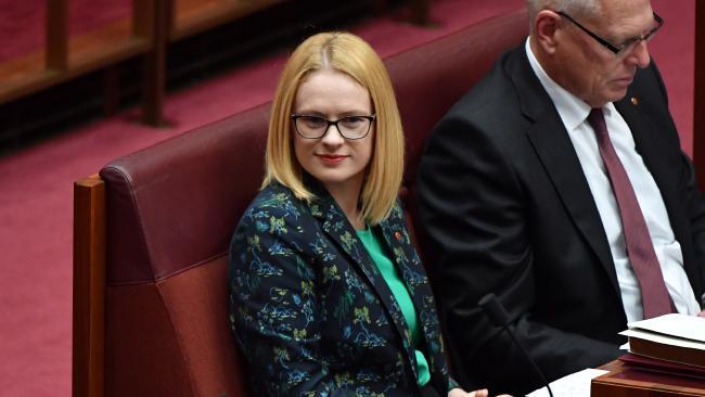 Liberal Senator Amanda Stoker has given her maiden speech. Picture: AAP/Mick Tsikas