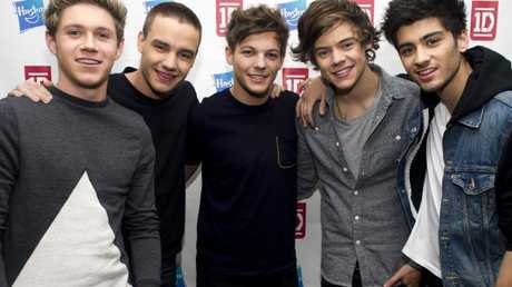 One Direction in 2012: Niall Horan, Liam Payne, Louis Tomlinson, Harry Styles and Zayn Malik.
