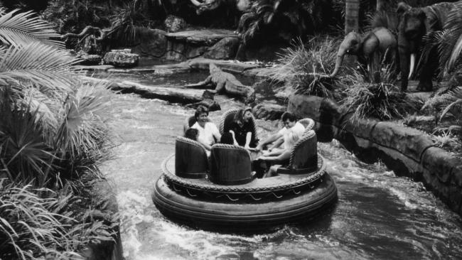 Dreamworld's Thunder River Rapids ride in 1995.