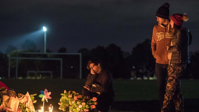 A vigil was held at Princes Park in memory of Eurydice Dixon earlier this week. (Pic: Jason Edwards)