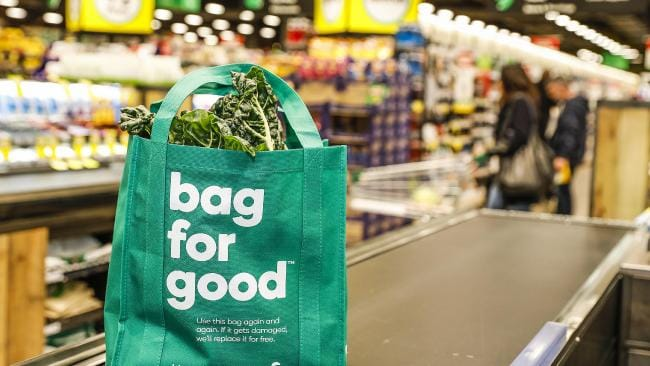 The Woolworths plastic bag ban kicks on today. Picture: Dallas Kilponen/PPR/Woolworths