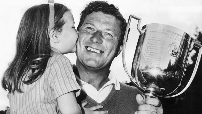 Golfer Peter Thomson with his daughter Peta Ann at the Australian PGA championship at Metropolitan.