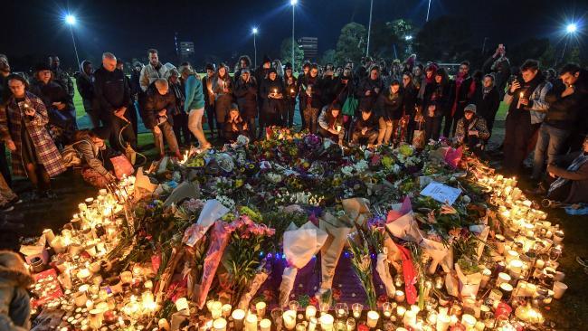 The Reclaim Princes Park vigil for Eurydice Dixon in Carlton. Picture: Jason Edwards