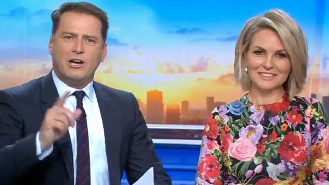 Karl Stefanovic has blasted rival breakfast TV show Sunrise over their decision not to attend the Logies this year.