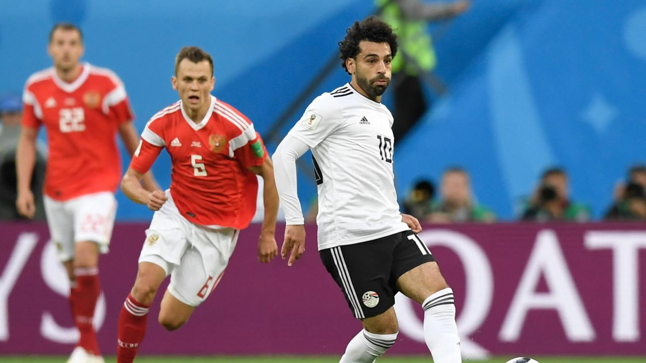 Egypt's forward Mohamed Salah's return wasn't enough to lift his team. Picture: AFP