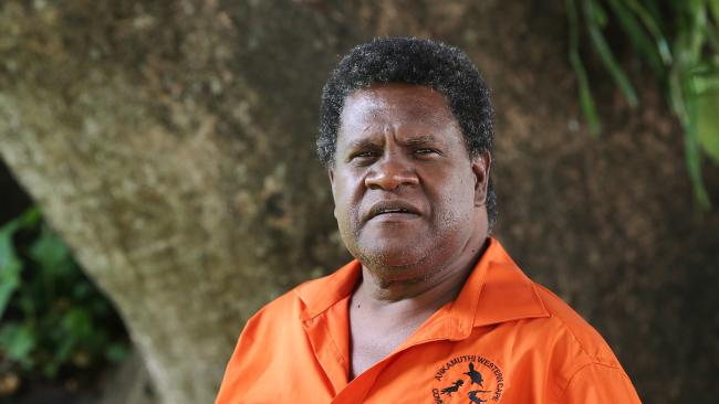 Ankamuthi traditional owner Larry Woosup is facing fraud charges. Picture: Brendan Radke