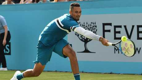 Nick Kyrgios hopes to remain healthy and injury free as he pushes for a successful year at Wimbledon. Picture: AFP