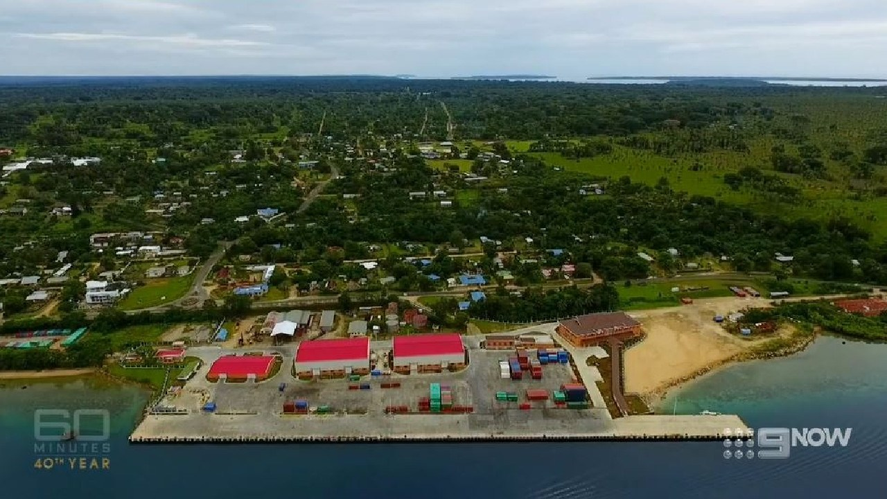 The new wharf at Luganville, Vanuatu. Source: 60 Minutes
