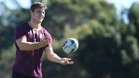 Jai Arrow during the Queensland State of Origin team training session at Sanctuary Cove on the Gold Coast. Photo: AAP