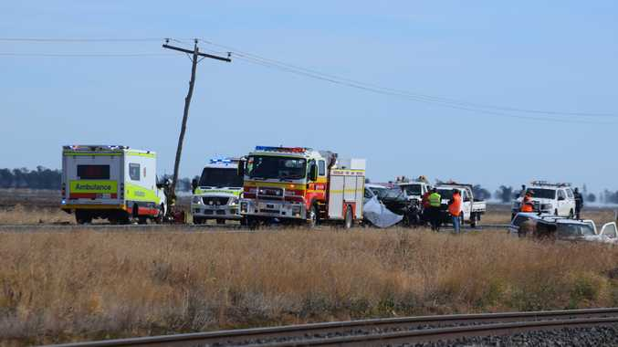 Warrego Highway open as woman fights for life in hospital