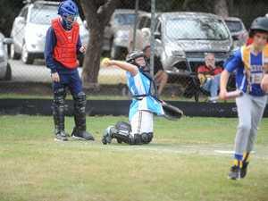 Catcher Corey Forrest at the School Sport Sunshine