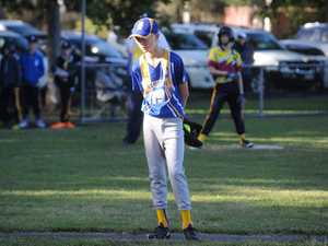 Campbell Zutt prepares to pitch for Nambour at the
