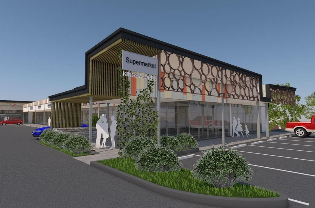 A 3D rendering of the proposed shopping centre at Kingsthorpe.