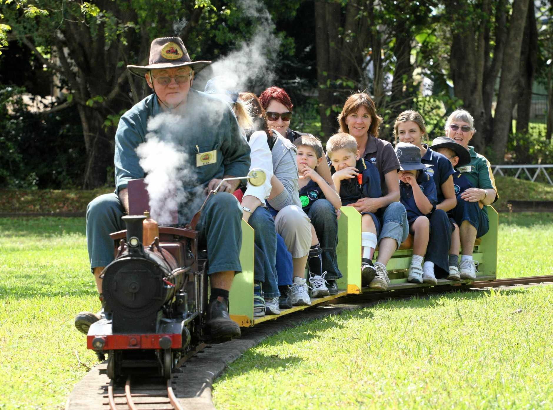 ALL ABOARD: Enjoy mini train rides at Nambour, courtesy of the Sunshine Coast Railway Modellers Society.