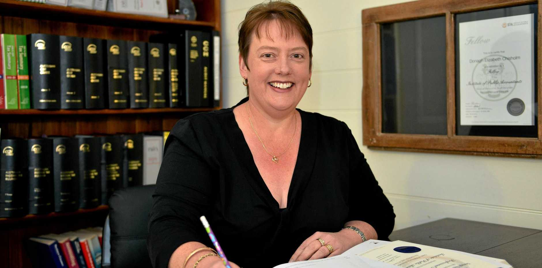 FINANCIAL FRIEND: Donagh Chisholm from Chisholm Accounting says knowing her clients and their history is a big advantage in helping them maximise their returns.
