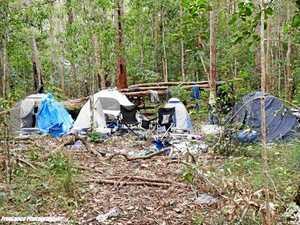 Illegal campsite reported