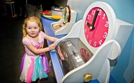 Imogen Gillam 4 yo explores  Alice's Wonderland at Cobb & Co Museum. Thursday, 21st Jun, 2018.