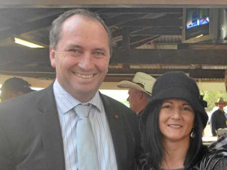 Barnaby Joyce and Natalie Joyce in happier times.