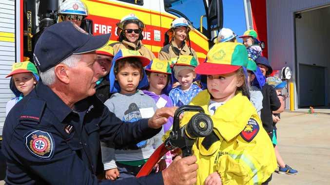 Prossie kindy kids get firefighting