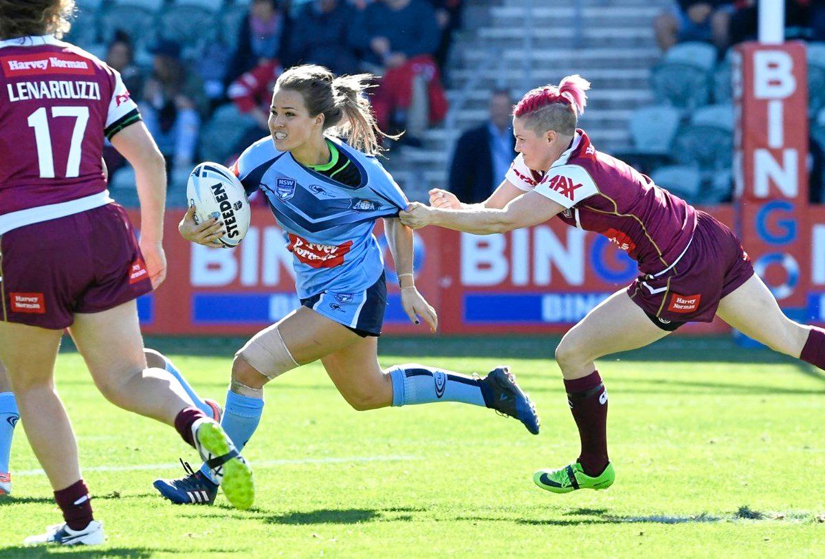 QUEENSLAND PRIDE: The Queensland Women's State of Origin fullback Chelsea Baker will do Gladstone proud tonight against arch rivals New South Wales.