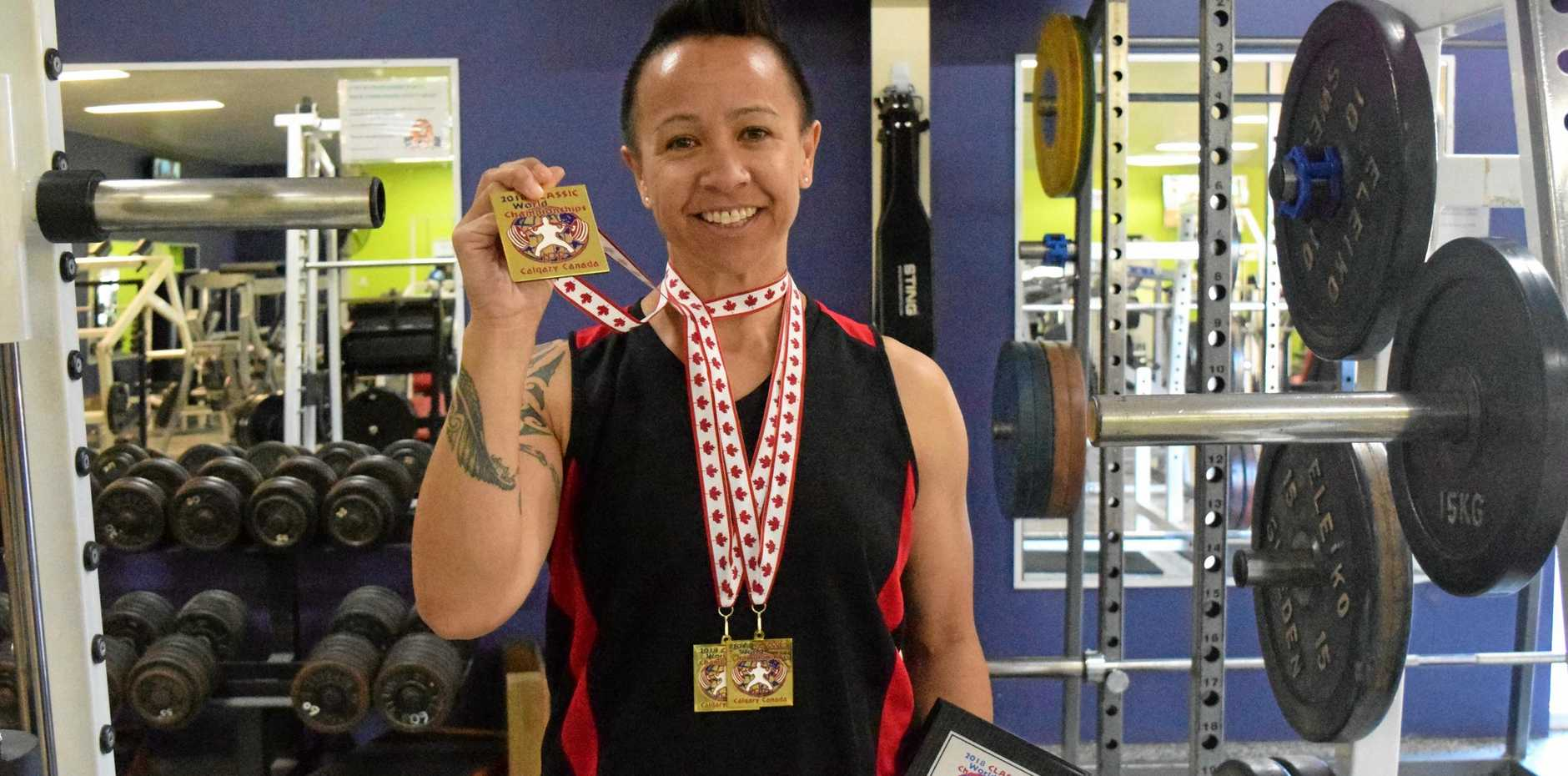 TITLE HOLDER: Cass Pickard is back home in Emerald after returning as world champion following the 2018 IPF World Championships in Calgary, Canada.
