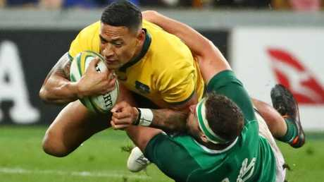The Wallabies' Israel Folau was a dominant force in the first Test against Ireland.