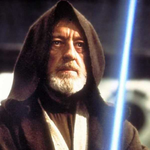 Sir Alec Guinness as Obi-Wan Kenobi. Picture: Supplied
