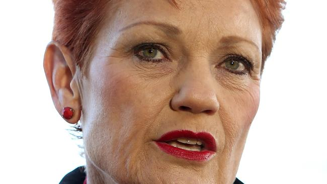 Senator Pauline Hanson arriving at Parliament House in Canberra. Picture Kym Smith