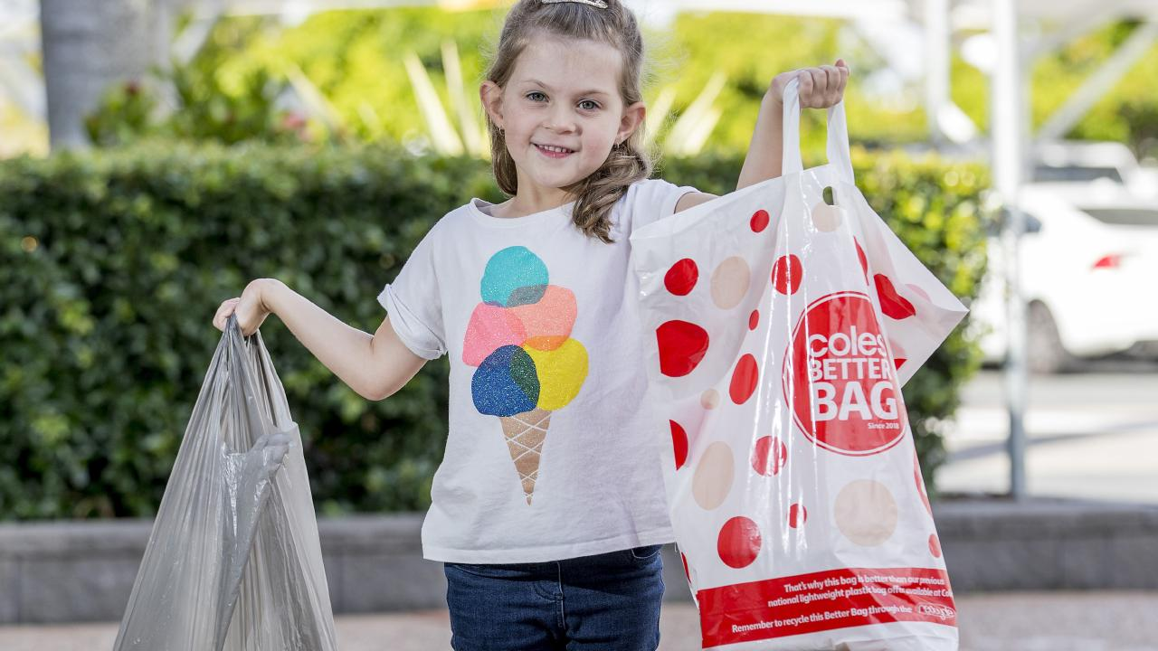 Coles will axe plastic bags on July 1. Picture: Jerad Williams
