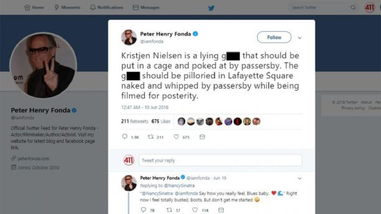 This violent tweet about Nielsen was applauded by Nancy Sinatra.