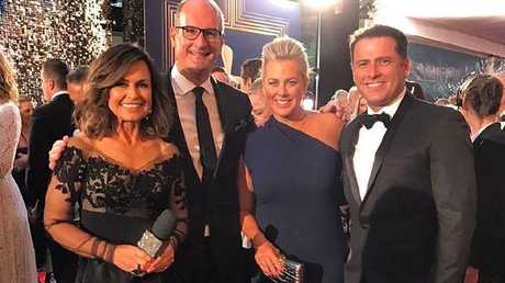 Lisa Wilkinson, Kochie, Sam Armytage and Karl Stefanovic on the Logies red carpet last year.