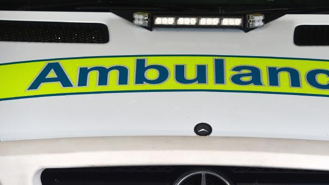 Police, ambulance at scene of crash between car and cyclist.