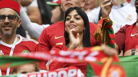 Cristiano Ronaldo's partner Georgina Rodriguez watches her man at the World Cup.