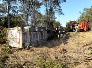 Truck crash on Swanbank Road