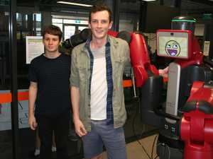 CQ Uni Students Wesley Bailey and Erik Lindberg with
