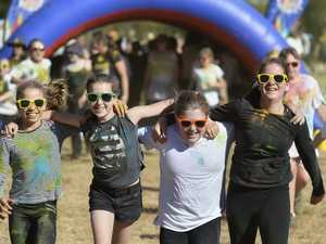 GALLERY: Toowoomba East students run through cloud of colour