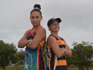 Tigers A-women player Katie Geiger and Alycia Taylor