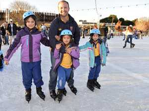Ice skating at Winter Wonderland