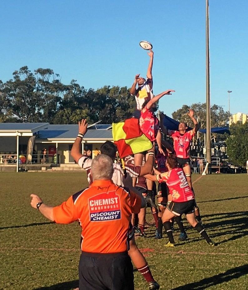 HITTING BACK: The Noosa Dolphins look to win the line-out on the weekend.