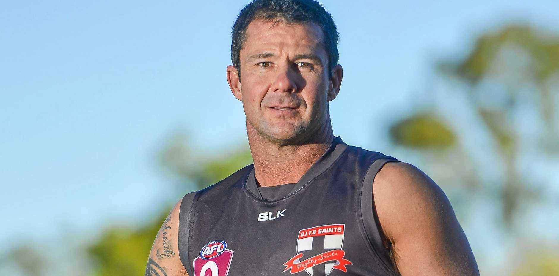 LEGEND: Boyne Island Tannum Sands Saints player Daniel Boase will play his 350th game this afternoon.