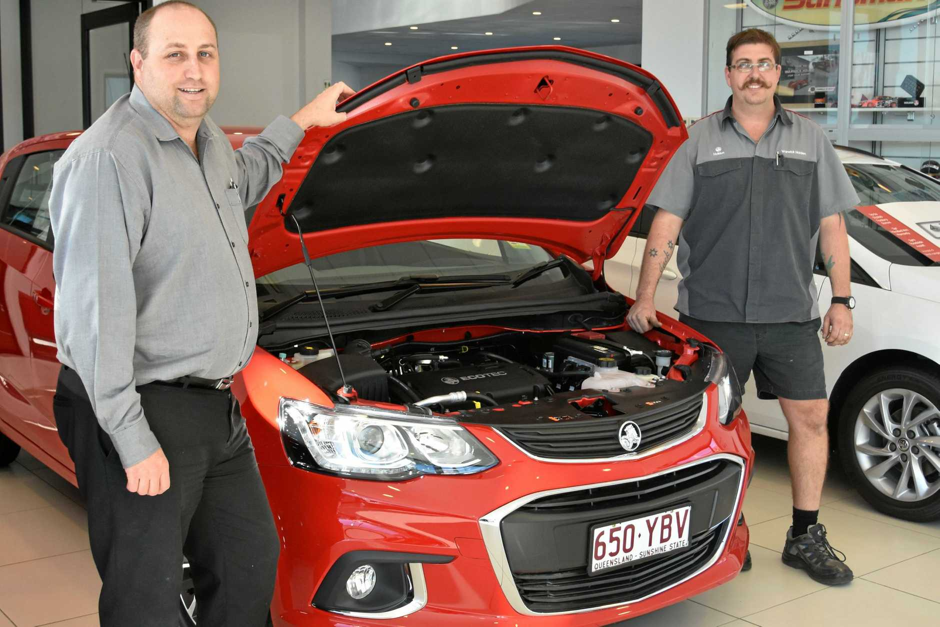 SERVICE TIME: Southern Downs Automotive general manager Mick Dwan and workshop foreman Brice Morrish are getting cars ready for winter