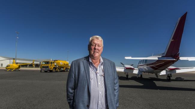 Wagner chairman John Wagner at Wellcamp Airport, Toowoomba. Picture: Glenn Hunt/The Australian
