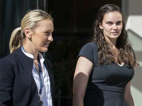 Chloe Brix (right) had heard of a Thunder River Rapids ride operator getting fired in 2014. Picture: Glenn Hunt