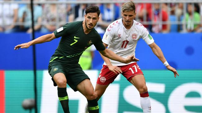 Mathew Leckie was the best player on the pitch. Picture: AFP
