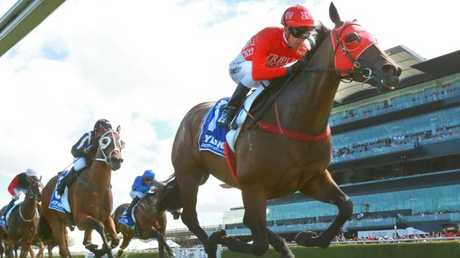 Star sprinter Redzel will return in the spring to chase back-to-back wins in The Everest. Picture: Getty Images
