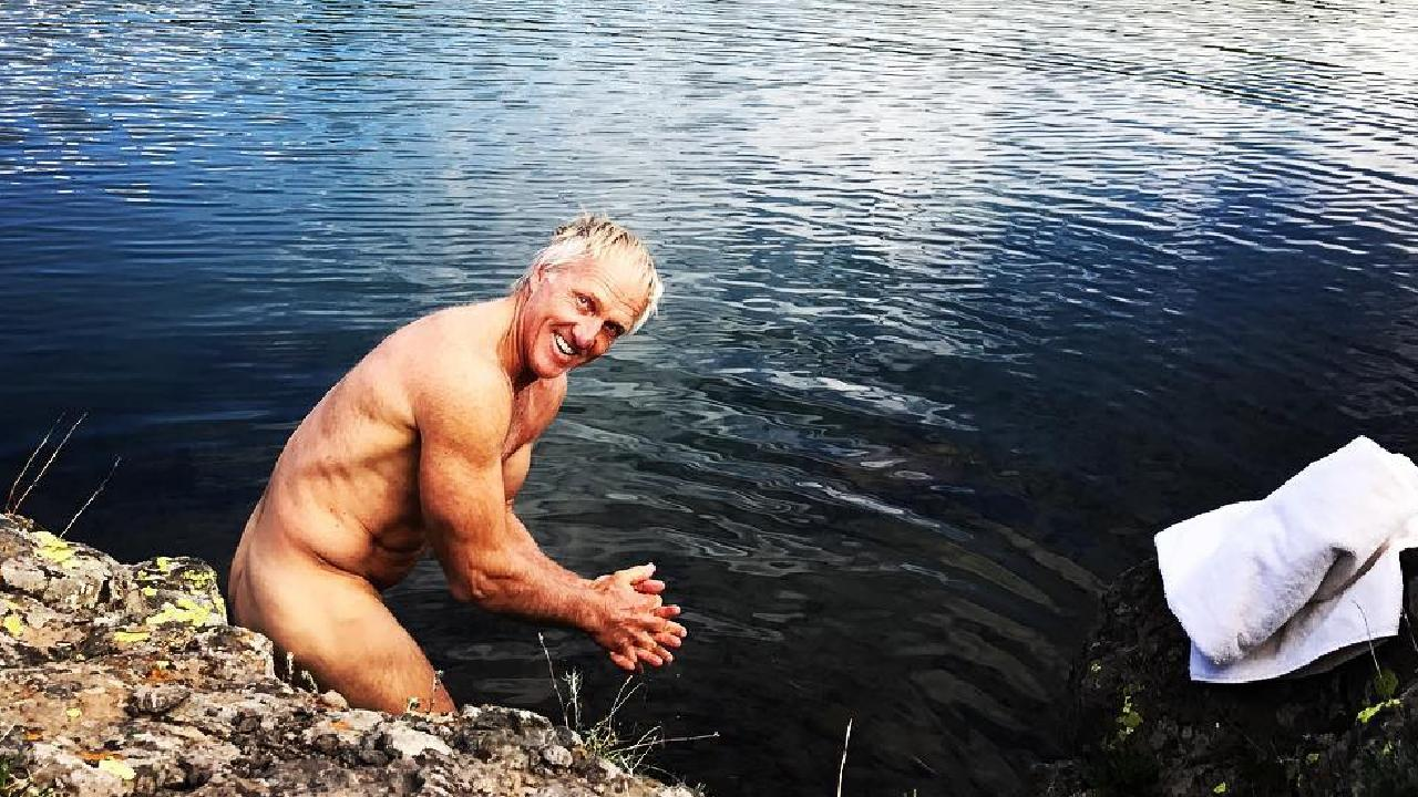 Image of Greg Norman nude from his Inatagram page. Source: Instagram.