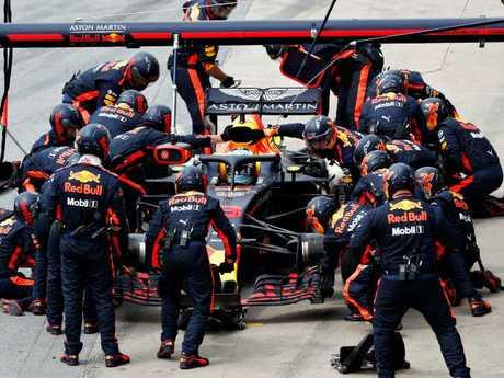 Daniel Ricciardo is in the driver's seat.